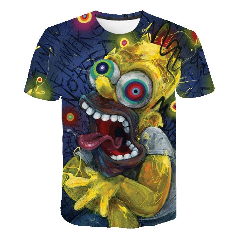 T-shirt 3D Stereo Printing Plant Wars Zombie Short-sleeved T-shirt Half-sleeve T-shirt with Men's Trend Pattern
