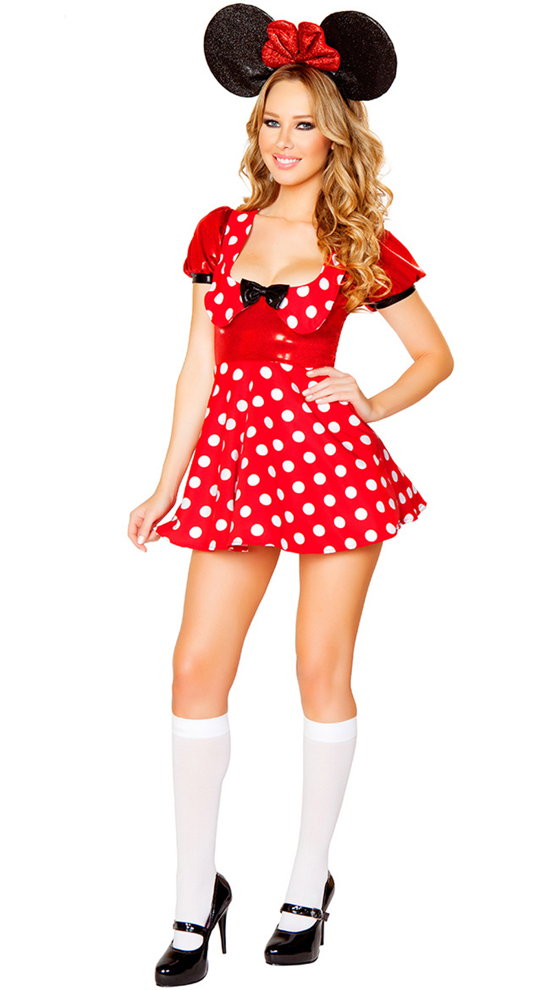 Sexy minnie costume adult halloween mouse
