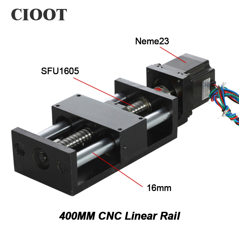 2017 Cnc Part Linear Rail Linear Stage Actuator Table 400mm Travel Length Mould For Diy Cnc Router Machine Tool X Y Z Axies 1220 800 one head belt driven linear actuator custom travel length linear motion motorized linear stage belt driven stage