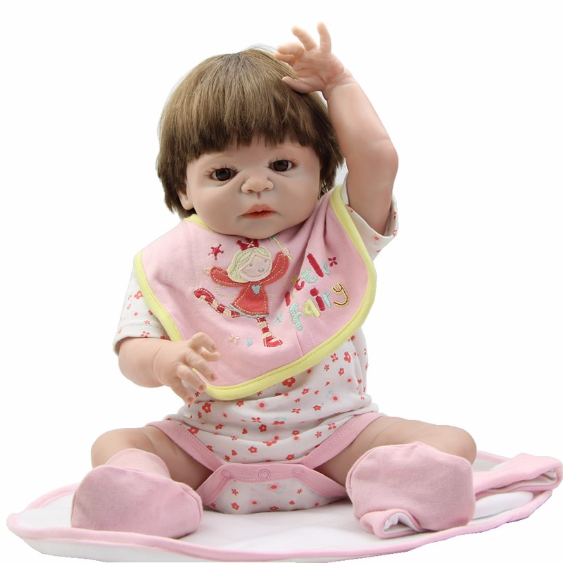 23inch 57cm Full Silicone Reborn Baby Lifelike Toddler Baby Bonecas real touch super toys bathe menina Toys For Kids Gifts23inch 57cm Full Silicone Reborn Baby Lifelike Toddler Baby Bonecas real touch super toys bathe menina Toys For Kids Gifts