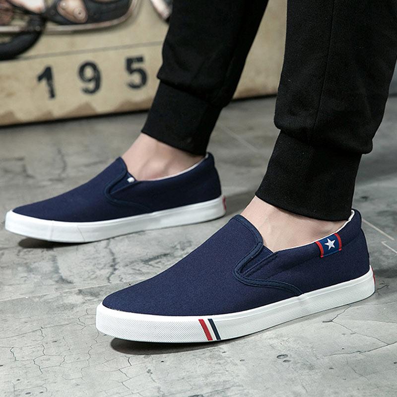 blue Slip Deporte Hombres De Black Zapatillas Moda Blancas on Mocasines Negro  Hombre Pisos Zapatos Planos ... 396fe11f8ff78