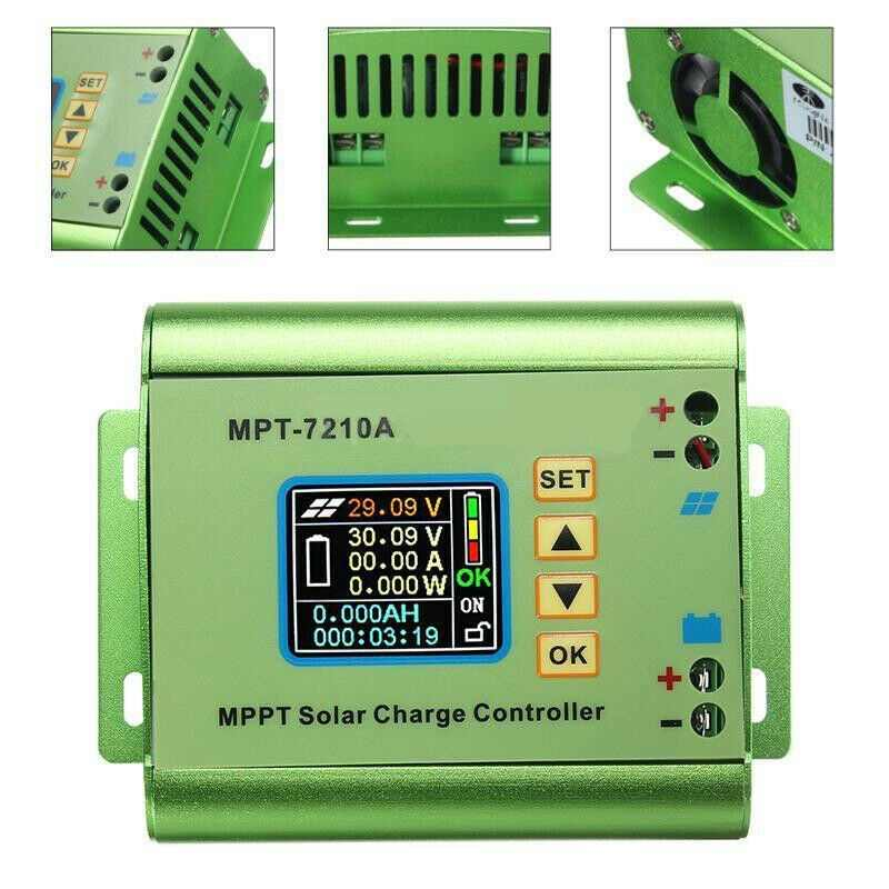 PowMr 10A MPPT Solar Charge Controller Fit For 24V 36V 48V 60V 72V Lithium Battery Bank Solar Systems Regulators LCD Display