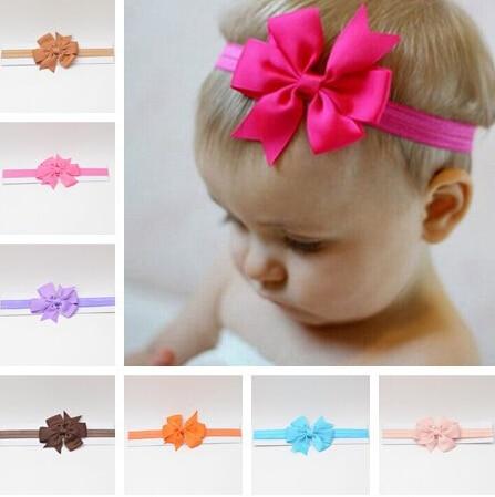 Lytwtw's headwrap baby headbands headwear girls bow knot