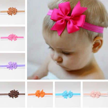 headwrap baby headbands headwear girls bow knot hairband head band infant newborn Toddlers Gift tiara hair clothes accessories