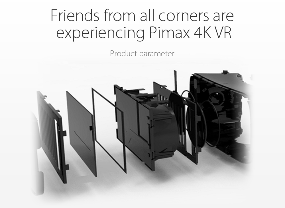 PIMAX 4K VR Helmet Cardboard Virtual Reality Glasses Mobile Phone 3D Video Movie Headset With Earphone for PC 110 Degree FOV
