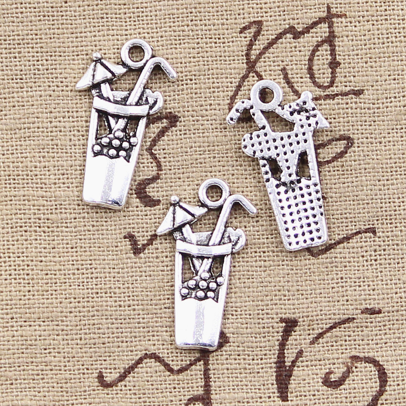 10 Stücke Charms Kaltes Getränk Tasse 23x13mm Antike Tibetischen Silber Anhänger Erkenntnisse Zubehör Diy Vintage Halsband Halskette