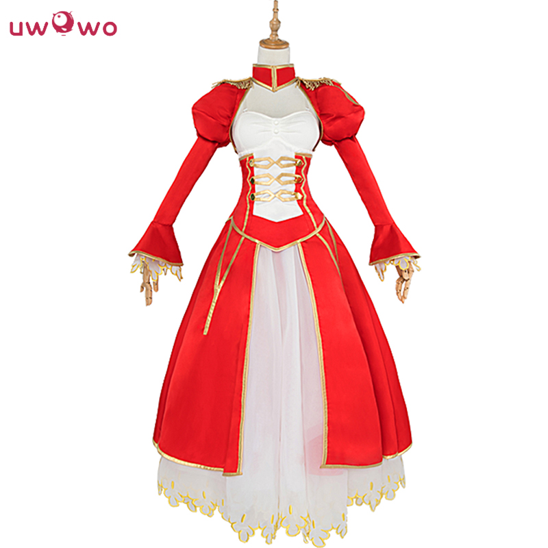 UWOWO Saber Cosplay Arturia Pendragon Costume Anime Fate Stay Night Saber Cosplay UBW Fate Zero Nero Red Dress Women rolecos japanese anime fate stay night altria pendragon cosplay costume fate zero saber arturia pendragon cosplay costume