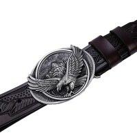 2017 New Hot Designer Belts Men High Quality Solid Brass Buckle Luxury Brand Genuine Leather Belt
