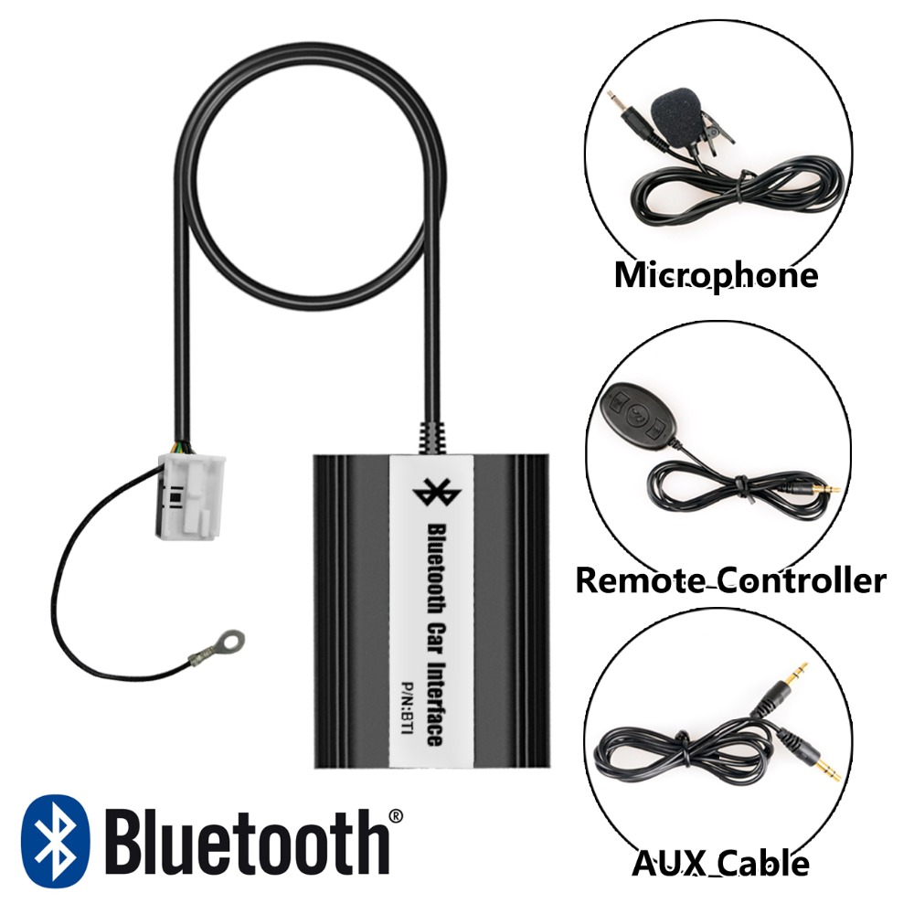 APPS2Car Hands-Free Car Bluetooth Adapter USB AUX Music Adapter for Volkswagen Touareg 2002-2011 car usb sd aux adapter digital music changer mp3 converter for skoda octavia 2007 2011 fits select oem radios