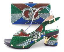 2017ใหม่ผู้หญิงปั๊มรองเท้าอิตาลีและชุดกระเป๋ารองเท้าแต่งงานแอฟริกันและชุดกระเป๋าD. GREENรองเท้าผู้หญิงและถุงเพื่อให้ตรงกับสำหรับภาคี