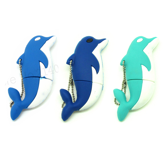 Mini Dolphin | Cartoon Mini Dolphin Usb Flash Drive Disk Memory Stick Fish Sea