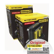 Nitecore i8 интеллектуальное зарядное устройство 8 слотов 4A выход Смарт зарядное устройство для IMR18650 16340 10440 AA AAA 14500 26650 и USB H15