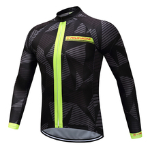 Для мужчин длинный рукав Велоспорт Джерси уникальный геометрический узор защита от пота быстросохнущая езда на велосипеде майки Индивидуальные/ Услуги