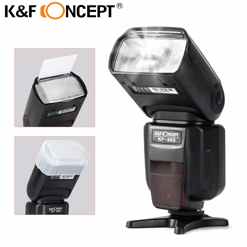 K&F CONCEPT KF885 Flash Speedlite Light HSS 1/8000S TTL GN58 Wireless Flash Master/Slave S1 S2 2.9S for Nikon Canon DSLR Cameras meike mk 950ii n gn58 ttl wireless trigger remote flash speedlite for nikon dslr black