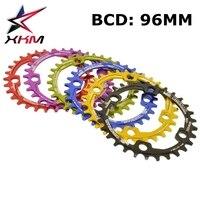 Pedaleira de Bicicleta de Manivela Roda de bicicleta Cadeia Mtb 96BCD para SHIMANO XT M8000 Al 7075 CNC peças Da Bicicleta