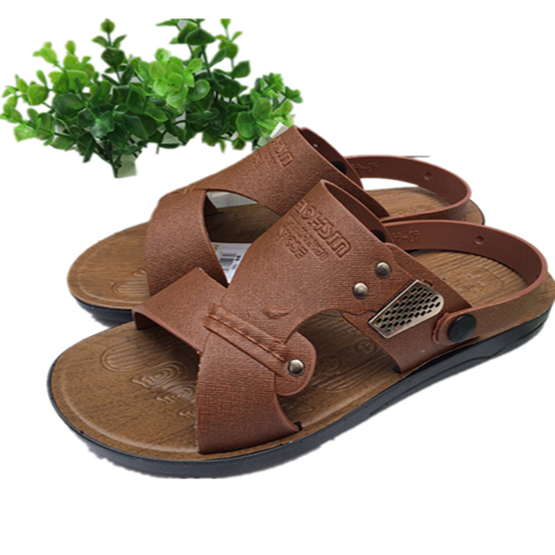 Mazefeng 2018 Fashion Summer Shoes Male Sandals Slip-on Solid Non-slip Beach shoes Men Casual Sandals Wear-resistant