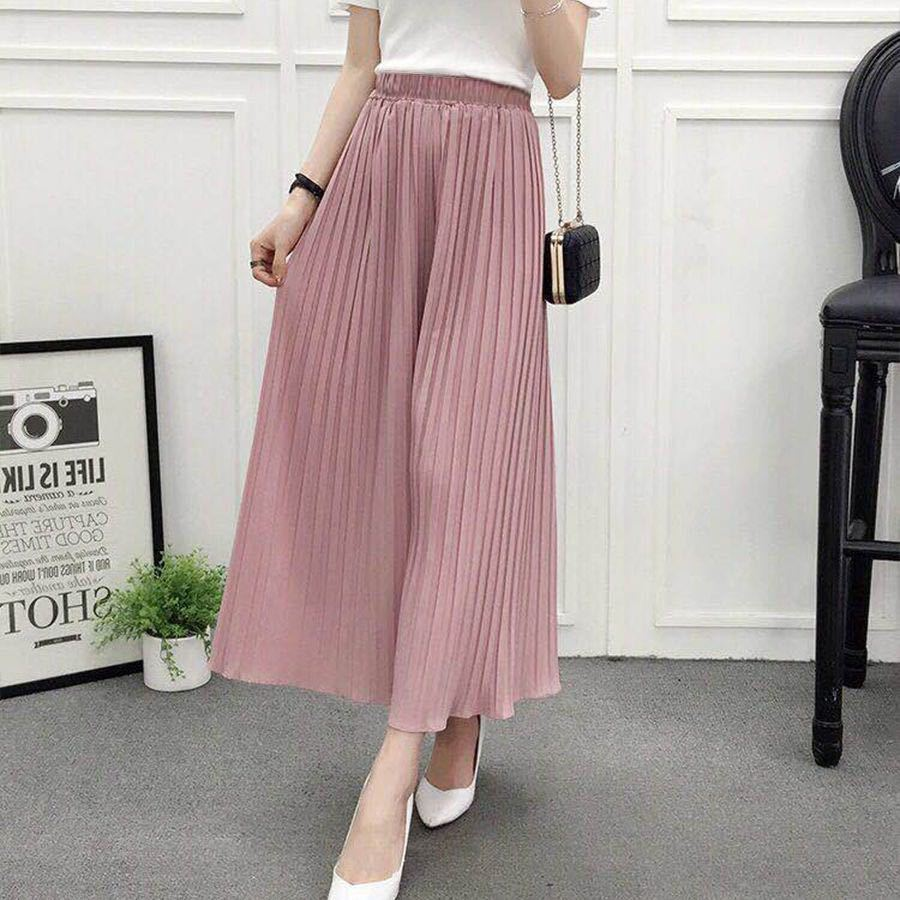 CHUQING 2019 Summer New Women's Casual   Pants   High Waist Loose Pleated   Wide     Leg     Pants   Women