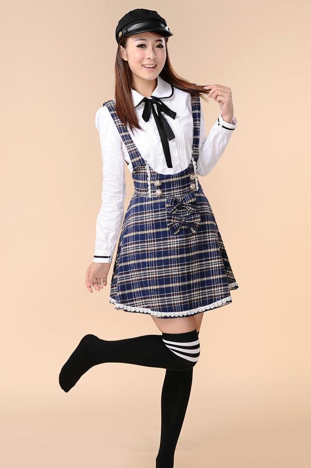 Blue school girl-7624