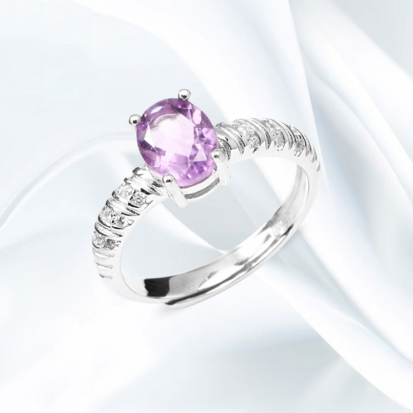 Argent Sterling 925 Belle Mystic Topaz Stone Ring Women Fashion Jewelry