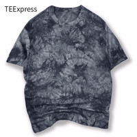 2016 New Summer O Neck Tie Dye T Shirt Man Army Camouflage Color T Shirt Mens