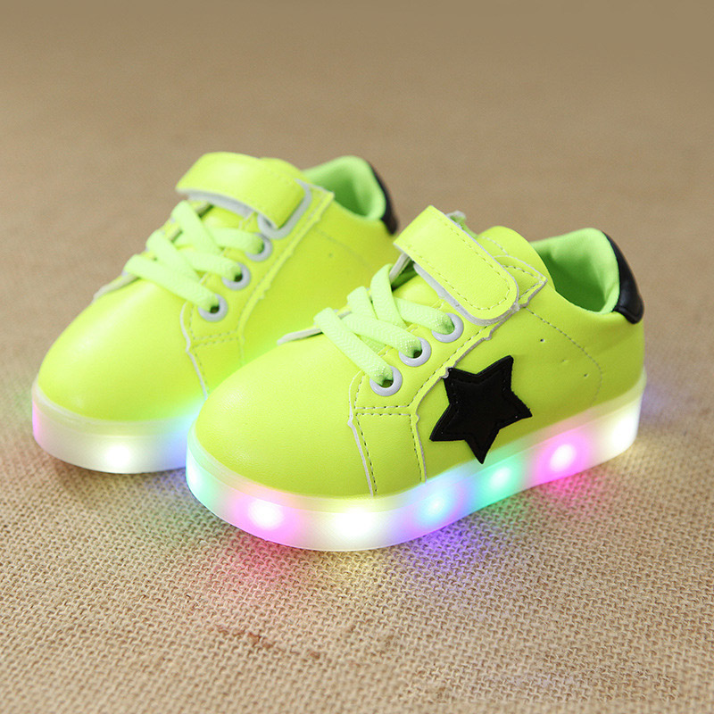 LED lighted glowing Sports baby tennis shoes Spring/Autumn solid girls boys sneakers excellent cool shinning baby toddlers