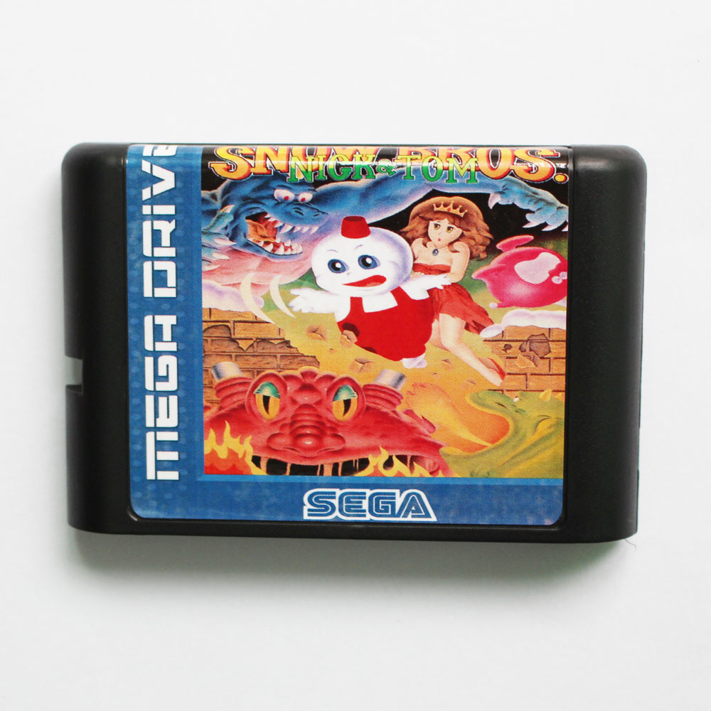 Snow Bros Nick & Tom 16 bit MD Game Card For Sega Mega Drive For Genesis