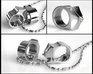 Image 2 - Wysokiej jakości stal wolframowa samoobrona dostarcza pierścień kobiety mężczyźni survivalowy pierścień bezpieczeństwa na palec z narzędziem łańcucha