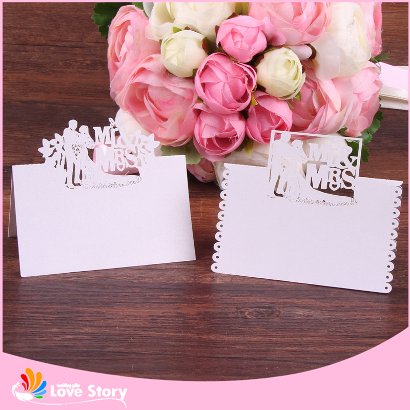 40pcs Bride and Groom Pattern Wedding Party Table Name Place Card Wedding Gift and Favors Wedding Souvenirs Party Supply image