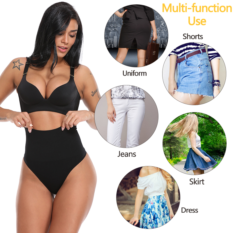 Women Thong Panty Shaper High Waist Tummy Control Panties Slimming Underwear Waist Trainer Shaping Briefs Butt