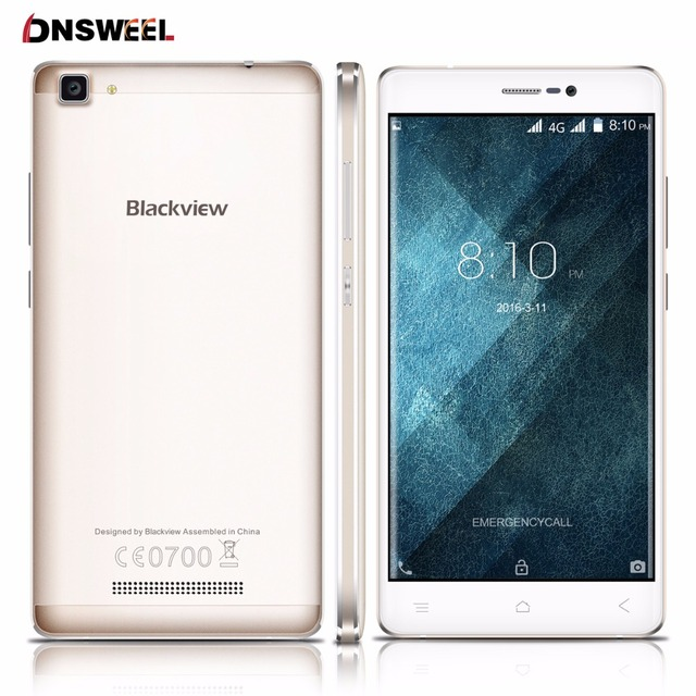 Blackview A8 Max Cell phone Android 6.0 5.5 inch HD IPS MT6737 Quad Core 64bit 4G Mobile Phone 2GB+16GB 8MP 3000mAh smartphone