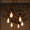 LOFT Metal Wheel Pendant Light Vintage Industrial Lighting American Aisle Lights Lamp 110V-220V B LCD-105