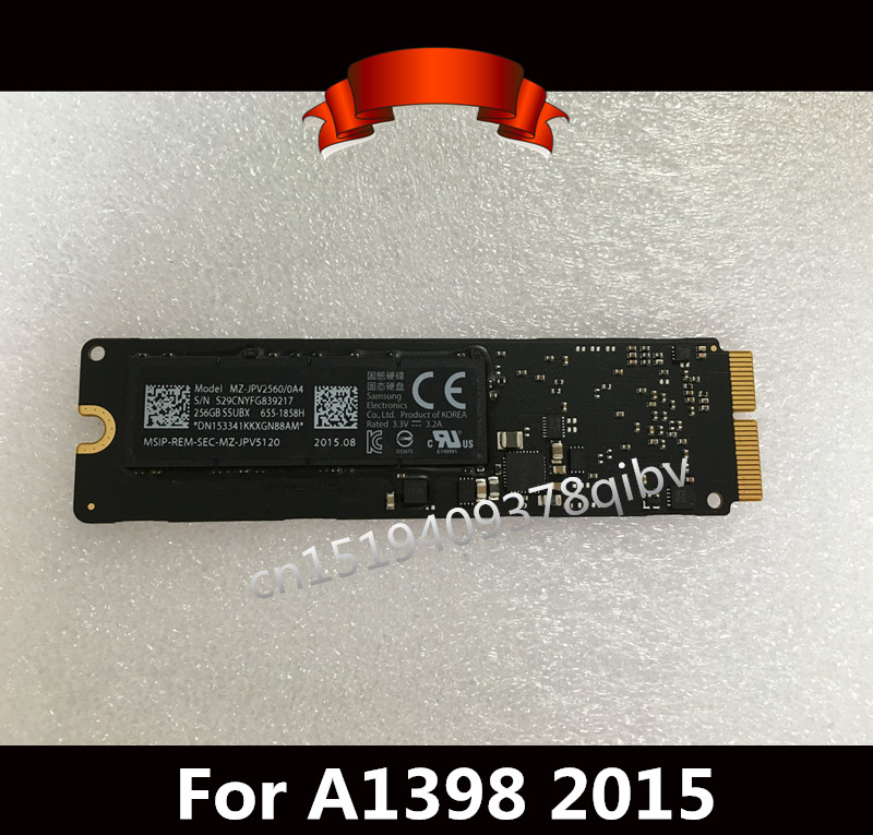 99%New Genuine 256GB 512GB Flash SSD 655-1858H for MacBook Pro Retina A1398 A1502 Macbook Air  A1465 A1466 2015 ssd for macbook pro