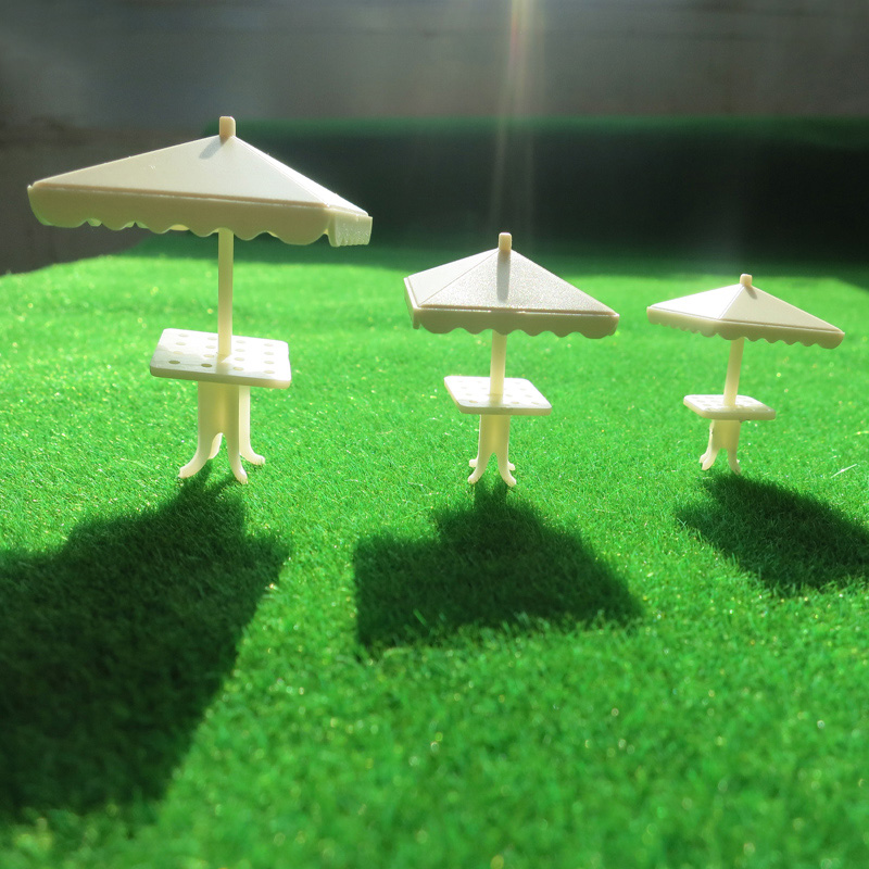 1:75-200 sunshine model Square parasol Model DIY Train Railway HO OO N scale beach sun umbrealls