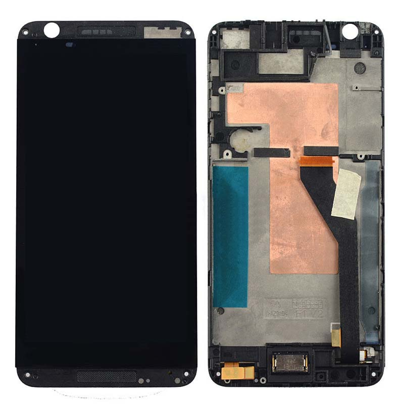 +Frame Black LCD Display + Touch Screen Digitizer Assembly Replacement For HTC Desire 820 Free Shipping