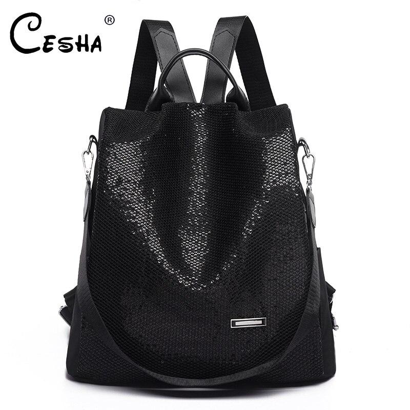 CESHA Fashion Anti-theft Design Women School Backpack High Quality Oxford School Bag Girls Schoolbag Backpack School Satchel Sac