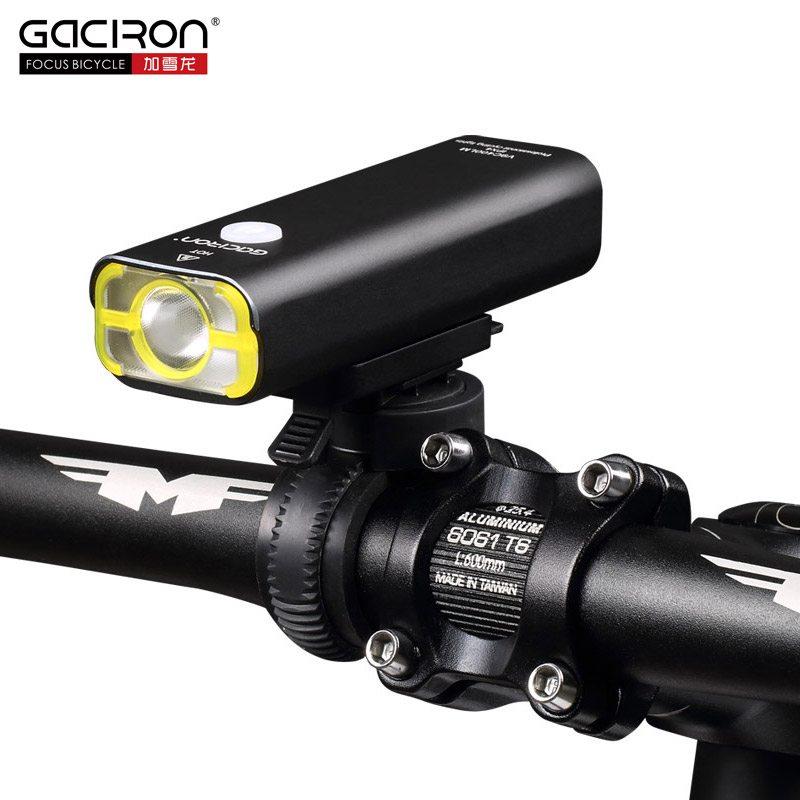 GACIRON 400 Lumens Bike Bicycle LED Flashlight USB Rechargeable Handlebar Headlight Cycling Front Head Lamp With