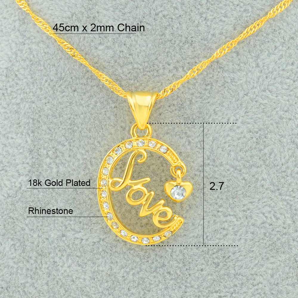 Anniyo love symbol jewelry heart pendants necklaces gold color mom anniyo love symbol jewelry heart pendants necklaces gold color mom mothers gift best girlfriendgreat good item in pendant necklaces from jewelry buycottarizona Images