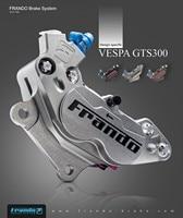 Frando F101 CNC four piston calipers Brake calipers for piaggio VESPA GTS 300/sprint/spring
