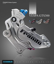 Frando F101 CNC four piston calipers Brake calipers for piaggio VESPA GTS 300/sprint/spring