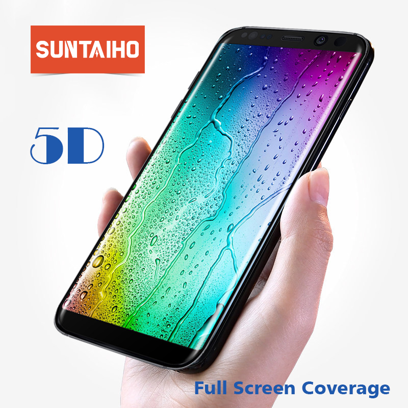 Suntaiho 5D Tempered Glass For Samsung S9 Plus Galaxy S8 Plus Galaxy Note8 Screen Protector Explosion-proof Galaxy A8 Glass Film