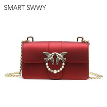 Swallow Female Brand Hand Bag Woman Messenger Bags Lady Matte chain Women Fashion Leather Shoulder jelly Bag Girl Crossbody Bags xiyuan brand women fashion original national wind embroidered fight side canvas embroidery lotus shoulder bag hand bags for girl