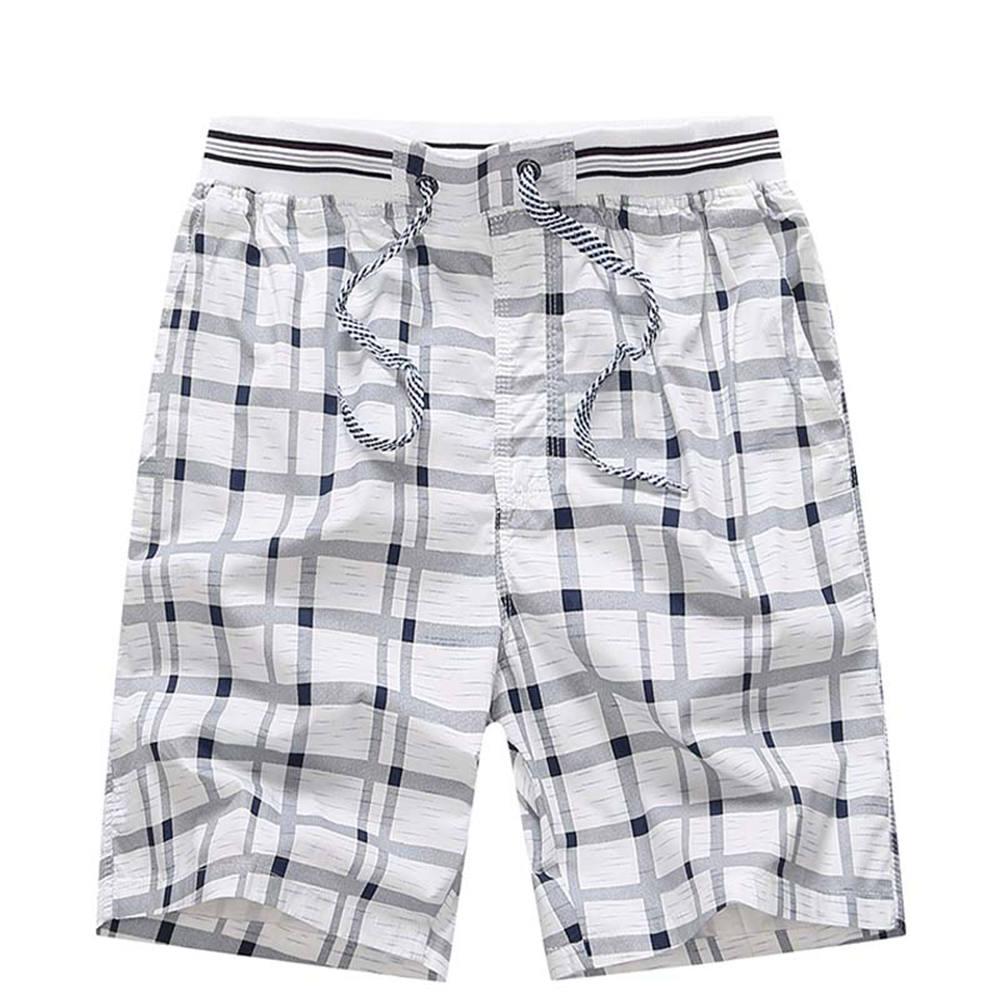 Gacloz Men Cotton Shorts Plus Size Casual Shorts Plaid Summer Beach Heren Shorts 3XL 4XL short homme pantalones cortos hombre