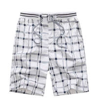 Gacloz Men Cotton Shorts Plus Size Casual Shorts Plaid Summer Beach Heren Shorts 3XL 4XL short homme pantalones cortos hombre