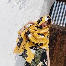 التفاف الوليد Echarpe pholards سنود مسلم الحجاب Sjaal النساء الشتاء وشاح الإناث الخريف طويل ورقة صفراء وشاح