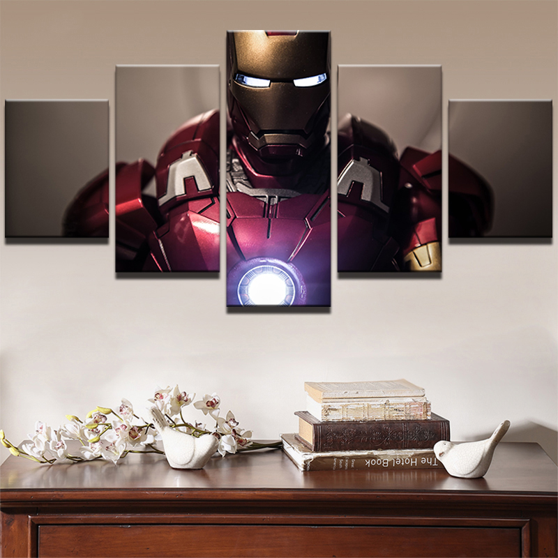5 pcs Full Square 5D DIY Diamond Painting iron Man Full diamond Embroidery mosaic Cross Stitch