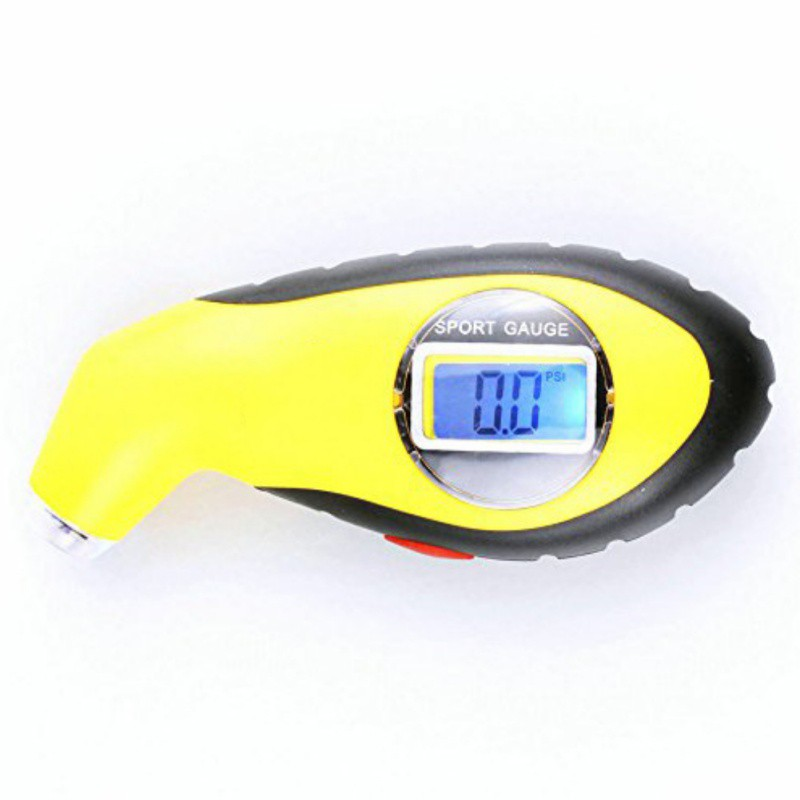 Electronic Digital Tire Gauge Pressure Tester Manometer Barometers LCD Tyre Portable Precision With Night Emergency Lighting