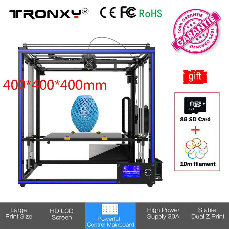 купить 400*400*400mm Tronxy X5S-400 Large 3D Printer DIY i3 High Precision Dual Z Print High Precision Hotbed 3D Printer Kit 12864 LCD по цене 21919.67 рублей