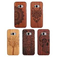 Wooden Protector Cover Shell Natural Well Made Slim Wood Carved Bamboo Case For Samsung Galaxy S8 S5 Neo i9600 S8+ Plus S7 Edge