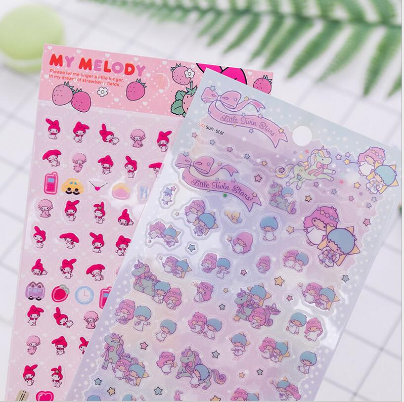 My Melody Twin Star Stickers Diary Decoration Stationery Stickers DIY Scrapbook Album Label StickersMy Melody Twin Star Stickers Diary Decoration Stationery Stickers DIY Scrapbook Album Label Stickers