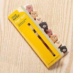 Kawaii памятки закладки для блокнота креативные милые животные Стикеры-закладки выложили его канцелярские принадлежности Школьные